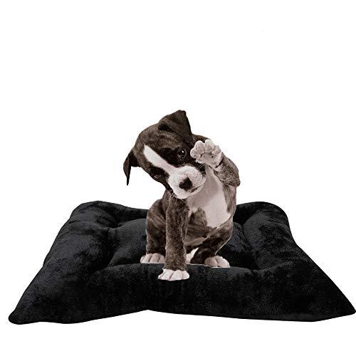 Arcoiris colchoneta Mascota Cama Perro, Cama de Perros Grandes, Gato, Cama para Perros, Cama para Mascotas Desmontable y Extraíble Lavable 110 x 80 x 15 cm(XL, Negro)