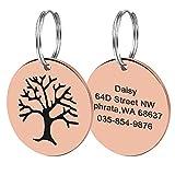 Placa de identificación para perros y gatos Placa de identificación grabada redonda para gatos collar de perro gatito accesorios personalizados placa de identificación perdida anti-perdida-8-ta