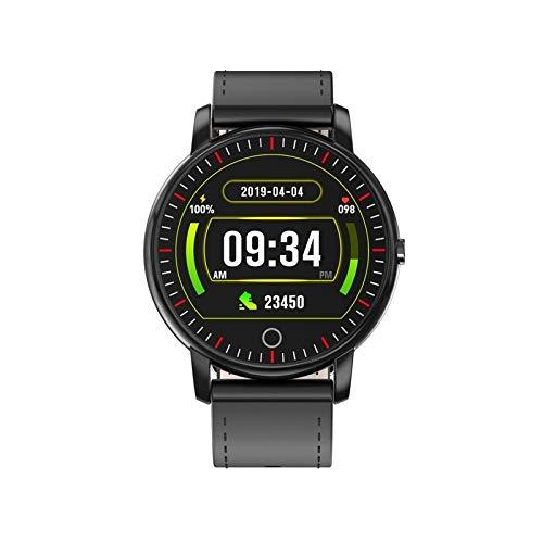 GXEXG Wasserdicht Fitnessuhr Smart Uhr M8 1,3 Zoll Smart Armband, Unterstützung Herzfrequenz und Blutdruck-Monitoring/Sedentary Erinnerung/Sleep-Monitoring/Call Reminder (Schwarz) (Color : Black)
