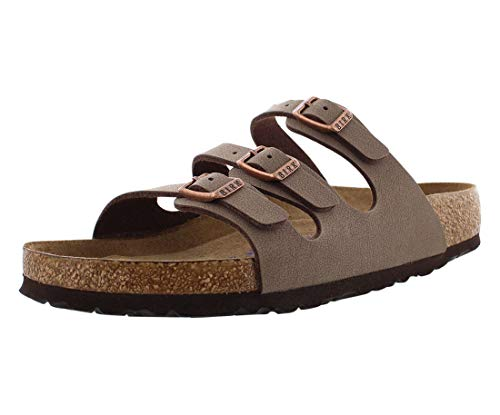 Birkenstock Florida Modische Sandale, weiches Fußbett, Birko-Flor, Nubukleder, Braun - mokka - Größe: 40 EU