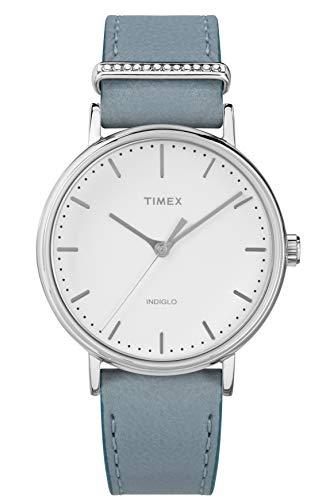 Timex Damen Analog Quarz Uhr mit Leder Armband TW2R70300VQ