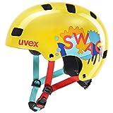 uvex Kid 3 Casco de Bicicleta, Juventud Unisex, Yellow, 55-58 cm