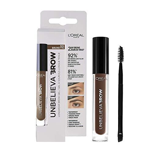 L'Oréal Paris - Crayon à Sourcils Longue Tenue Waterproof - Unbelievabrow - Couleur : Brunette (105) - 3.4 ml