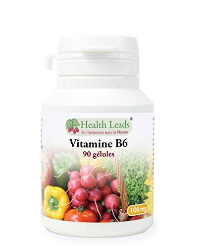 Vitamine B6 100mg x 90 capsules (pas de stéarate de magnésium)