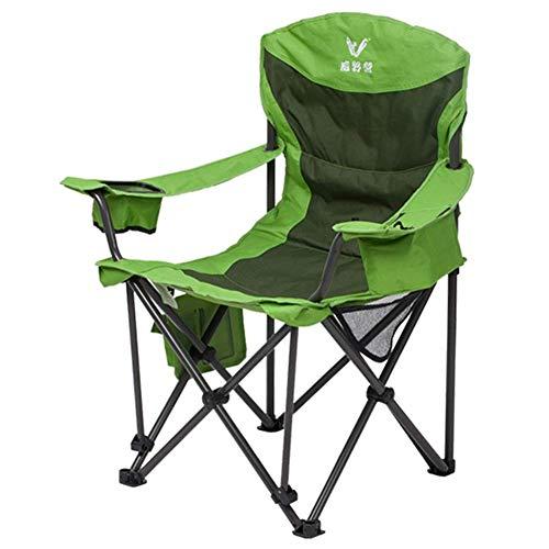 Caiyi Oversize Campingstoel voor zware mensen - Outdoor vouwstoel met bekerhouder en zijvak - Ondersteunt 440 lbs