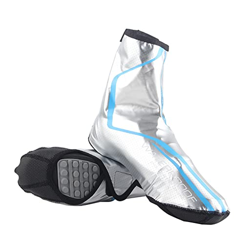 XJST Cubiertas De Zapatos De Ciclismo, Cubierta De Zapatos A Prueba De Agua, Bicicleta De Carretera De Invierno sobre Muñones De Calzado Térmico Cubiertas para Hombres para Hombres,Azul,L