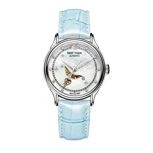 REEF TIGER Herren Uhr analog Automatik mit Leder Armband RGA1550-YWL