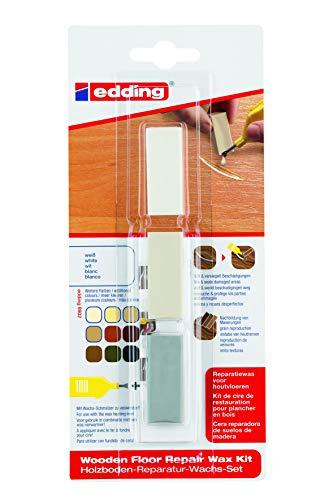 edding 4-8902-1-4049 Holzboden-Reparaturwachs-Set 8902 DIY, weiß