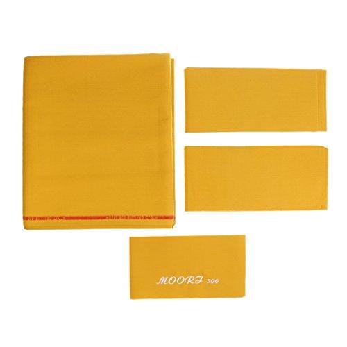 MagiDeal Billardtuch für 9ft Tisch Billardtisch Tuch (278 x 155 cm) - Geschwindigkeit & Stabilität der Billardkugel gewährleisten, Top-Qualität - Gold-Gelb