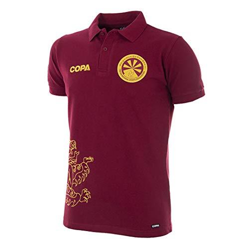 copa Tibet Shirt Camiseta Cuello Polo, Hombre, Rojo, XL