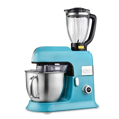 Kitchencook - Robot da 6,5 l, con frullatore sicuro e accessori in teflon Expert_xl, colore: Blu