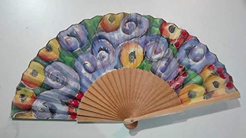 Abanico español/Abanico pintado a mano/Abanico Klimt/Abanico artesanal/Abanico de madera