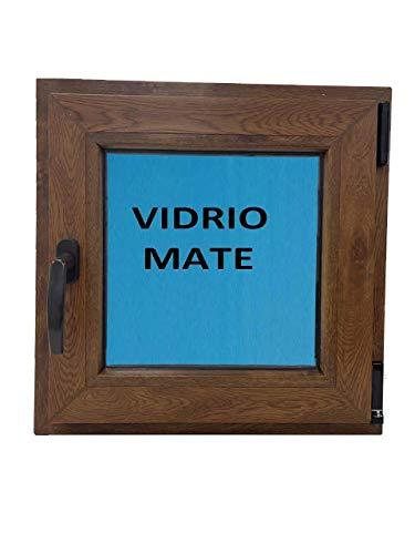 Ventana PVC 500x500 color madera (Roble Dorado) Oscilobatiente Derecha Climalit Mate Carglass
