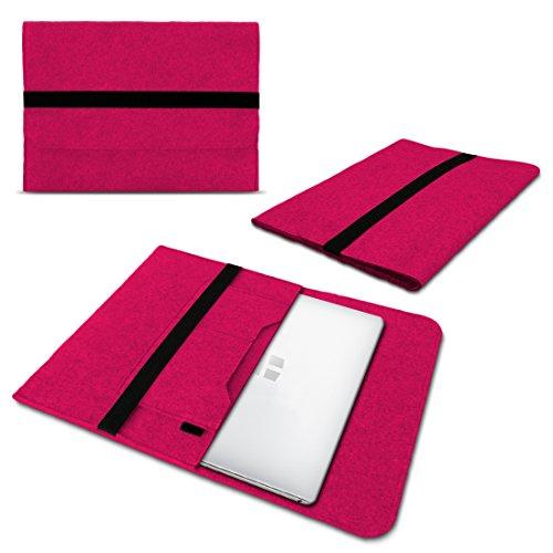 UC-Express Laptop Schutzhülle kompatibel für Trekstor Surftab Theatre 13,3 Sleeve Hülle Tasche aus Filz mit Innentaschen Cover Notebook Hülle, Farbe:Pink