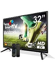 Smart TV Android NPG 32 inch LED HD WiFi DVBT-2 + Fjernkontroll med Qwerty-tastatur