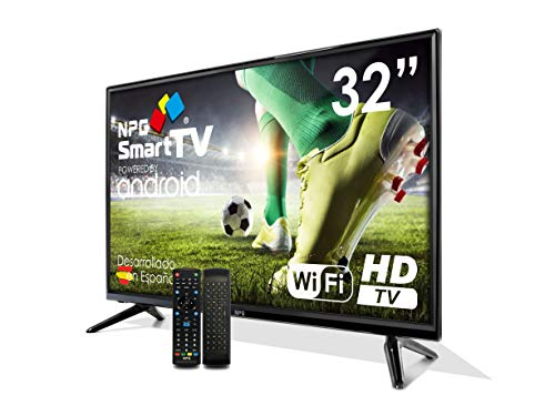 "Televisor Televisor LED 32"" HD NPG Smart TV Android + Smart Control 
