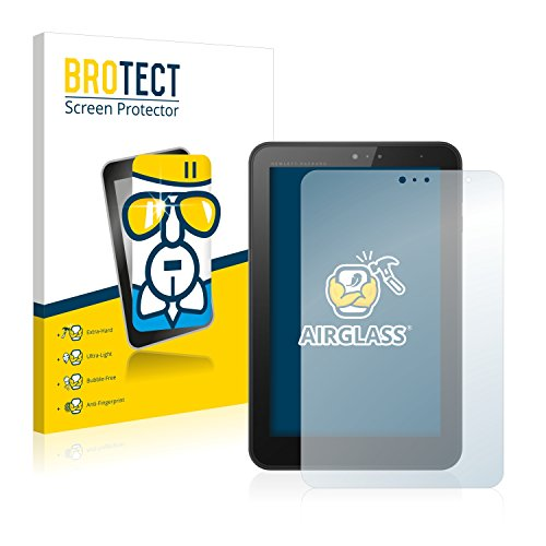 BROTECT Panzerglas Schutzfolie kompatibel mit HP Pro Tablet 408 G1 - AirGlass, 9H Festigkeit, Anti-Fingerprint, HD-Clear