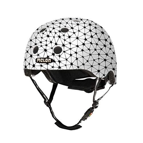 Melon Helmets Urban Active, Melon Synapses, Casco Bianco, Finitura Opaca, Piccolo, 46 – 52 cm, Misura della Testa Unisex-Adulto, Sinapsi, S