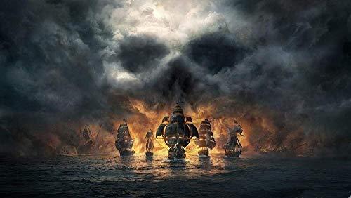 OKJK Mini Adult Puzzle 1000 Teile Naval Battle Under Fire Herausfordernde Puzzlespiele für Erwachsene und Jugendliche mit einzigartigen Geschenken 38x26cm