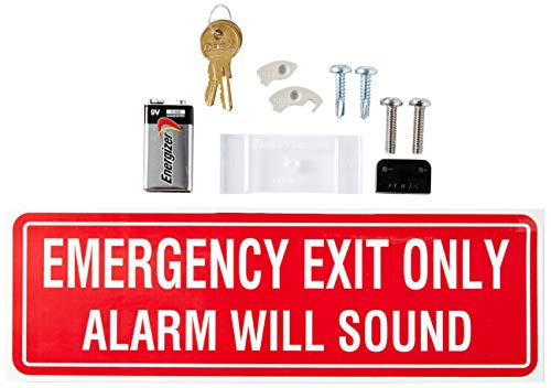"Detex EAX-500 Grey Surface Mounted Exit Alarm Piezo Horn Detex Battery Powered Door or Wall Mount Exit Alarm, 2.10"" W x 2.375"" D x 7.70"" L 5"