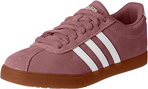 adidas Damen Courtset Laufschuhe Sneaker Rosa - Weiß 38 2/3