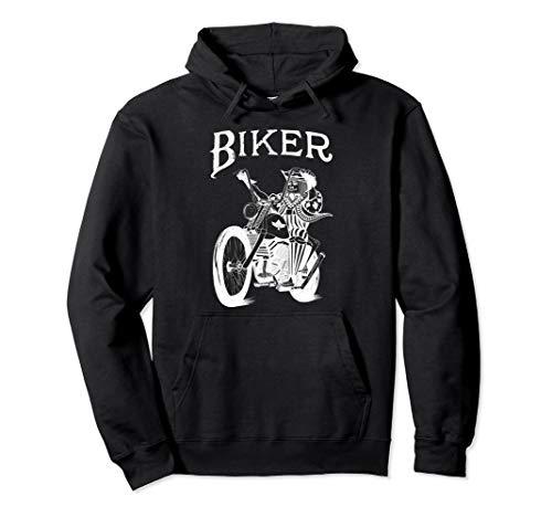 Ghost Biker - Joker Playing Card - Cardistry, Magician Gift Pullover Hoodie