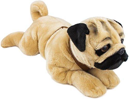 Brubaker Plüsch Hund Mops liegend 60 cm