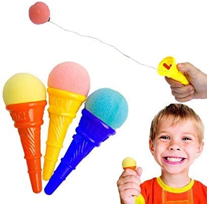 days off ice cream punch cone shooter party gag toy for kids (pack of 4)- Multi color