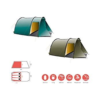Grand Canyon ROBSON 3 - tente tunnel pour 3 personnes   ultra-légère, étanche, petit format   tente pour le trekking, le camping, l'extérieur   Blue Grass (Bleu)
