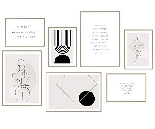 Hyggelig Home Premium Poster Set aus 7 passenden Bildern