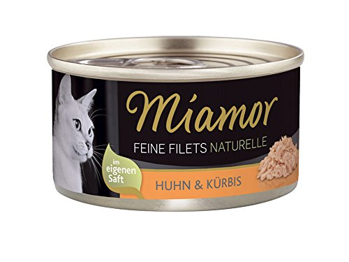 Miamor Feine Filets naturelle Huhn & Kürbis, 24er Pack (24 x 80 g)