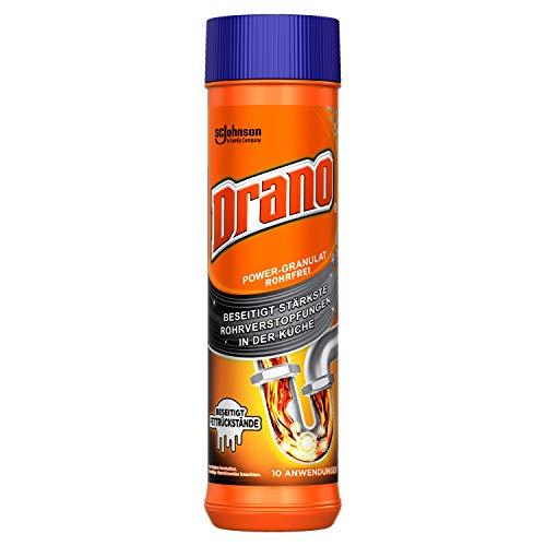 Drano (Mr Muscle) Power-Granulat Rohrfrei Abflussreiniger, entfernt Rohrverstopfungen in der Küche, 10 Anwendungen, 1er Pack (500g)