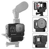 Artman Hero 8 Vlogging-Gehäuse Kompatibel mit Hero 8 Schwarz, Kaltschuhhalterung Vlog-Gehäuse Gehäuse Schutzrahmenhalterung mit Filteradapter/Ladeschnittstelle/Objektivdeckel