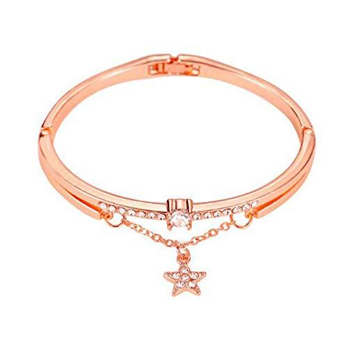 Fliyeong Einfache Strass Pentagramm anhänger armreif Frauen Hand zubehör hohe qualität