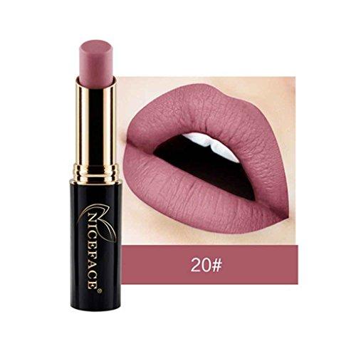 24 Farben NICEFACE Matte Lippenstift Lip Gloss Wasserdicht Long Lasting-Lippenstift-Lip Makeup Nude Lippenstift