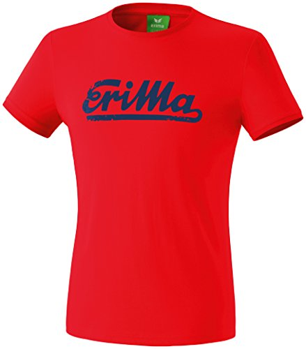 erima Retro – Camiseta para Hombre, Hombre, Retro T-Shirt, Rot/New Navy, Large