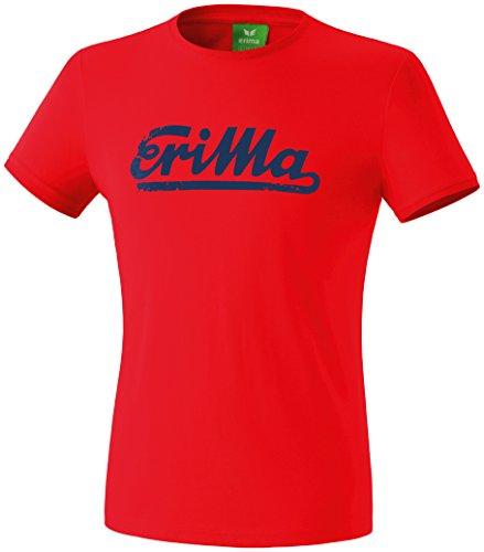 erima Retro–Camiseta para Hombre, Hombre, Retro T-Shirt, Rot/New Navy, Medium