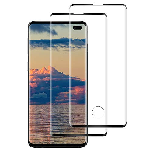 Protector de Pantalla para Samsung Galaxy S10 Plus Cristal Templado, [2-Pack] Cobertura Completa [9H Dureza] [3D Curvado] [Resistente a Arañazos] Vidrio Templado Screen Protector para Galaxy S10 Plus