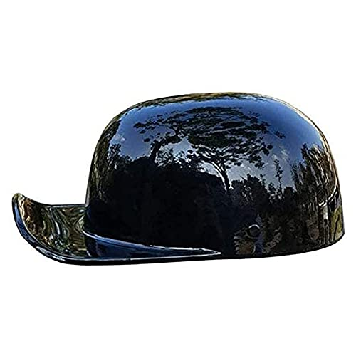 SPOTOR Personalidad Cascos Moto Half-Helmet,Gorra Beisbol Casco AnticolisióN Ultraligero Alta Dureza Brillante Gris Casco Scooter Casco Jet,Dot Certificado M-XXL (54-64cm)