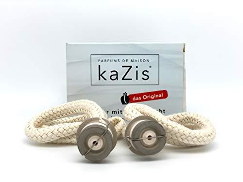 KAZIS® I 2 quemadores con mecha de repuesto para Lampe Berger y todas las demás lámparas catalíticas.