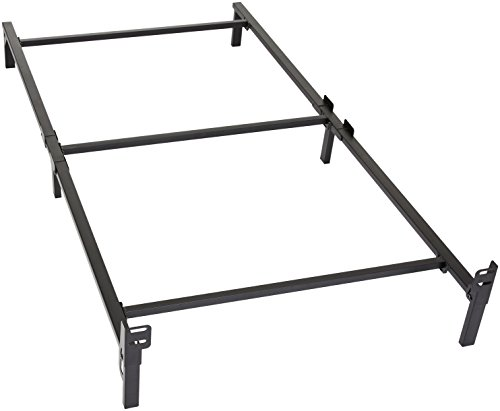 Amazon Basics 6-Leg Support Metal Bed Frame - Strong Support for Box Spring and Mattress Set - Tool-Free Easy Assembly - Twin Size Bed