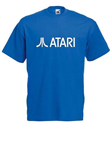 T-Shirt - Atari klein (Blau, XL)