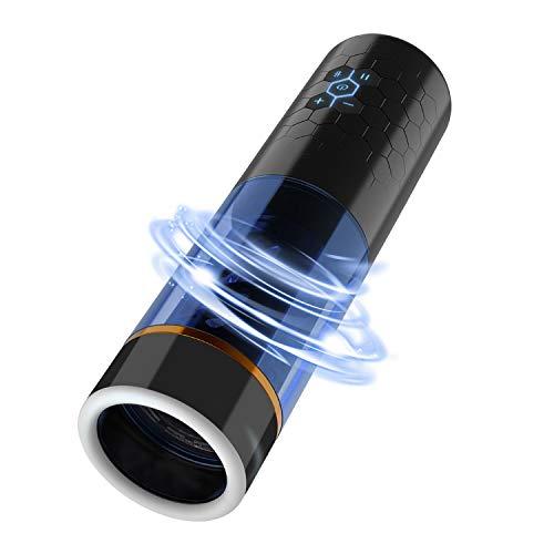 mejores Consoladores para hombre Urnight Telescopio + rotación: Masajeador Multifuncional Automático - Masaje muscular y relajación -10 modos telescópicos -10 modos de rotación - 3 configuraciones de velocidad