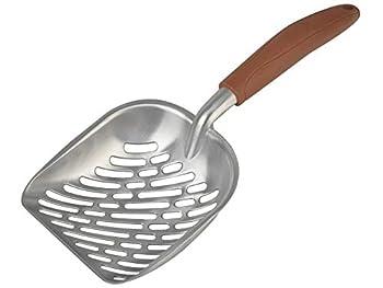 Homestead Heavy Duty Grande cuillère à bac à litière pour Chat en métal, Acier Inoxydable 35x 14x 5cm