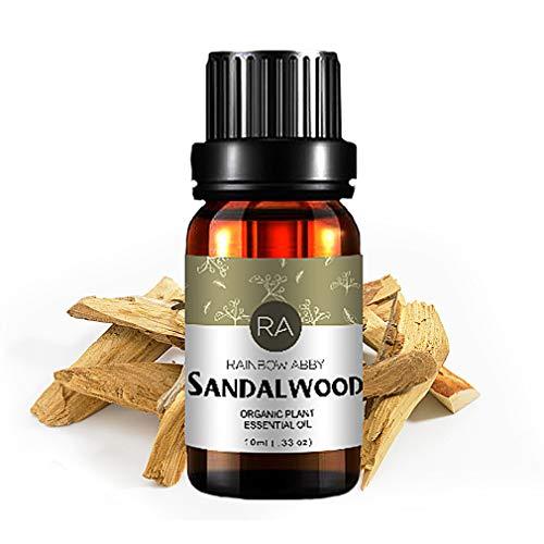 Aceite Esencial de SÁNDALO, Aceite de Sándalo Natural 100% Puro de Aromaterapia Para Difusor (10ML)