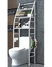 رفوف خزانة معدنية للمرحاض المطبخ الحمام رف موفر للمساحة منظم حامل جديد