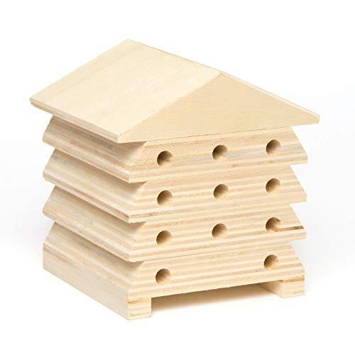 Baker Ross Wooden Bee Houses (doos met 2), zodat kinderen kunnen versieren en tentoonstellen.