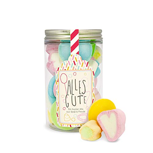 Alles Gute Süßigkeiten-Dose, toller Süßigkeiten-Mix in süßer Geschenk-Dose zum Geburtstag