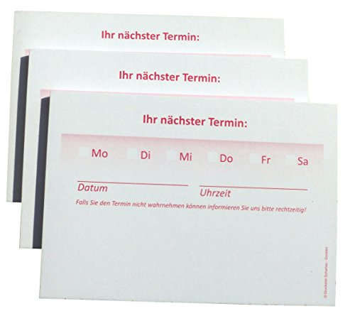 10 x Terminblöcke Terminblock Nr.3 -Terminzettel Termine - Praxis Studio Ärzte Frisör, Maniküre (22679_23K)