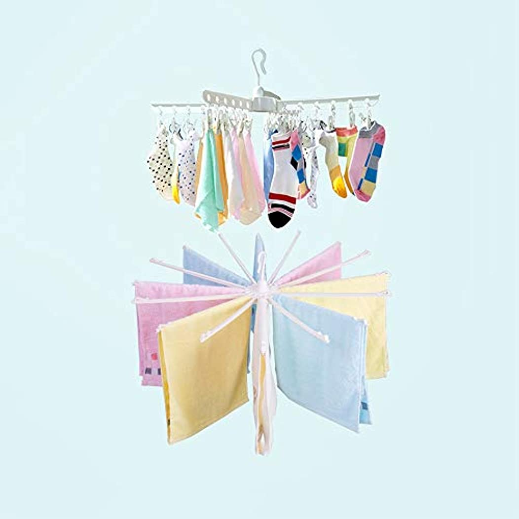 XSJZ Drying Rack, Multi-Purpose Folding Windproof Drying Rack Suitable for Household Hangers (Color : C)